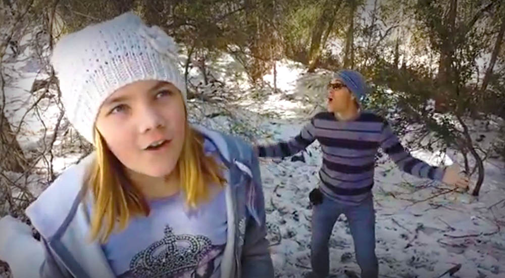 Dad Video Bombs Daughters Let It Go Performance