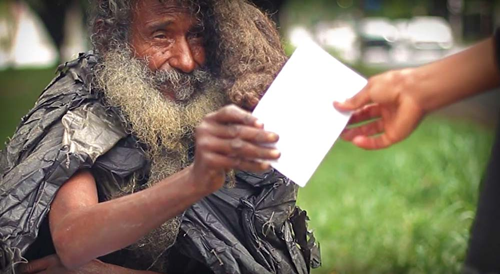 Poet Living On The Streets Found By His Family